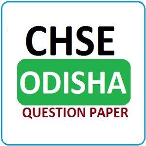 CHSE Odisha Model Paper 2019