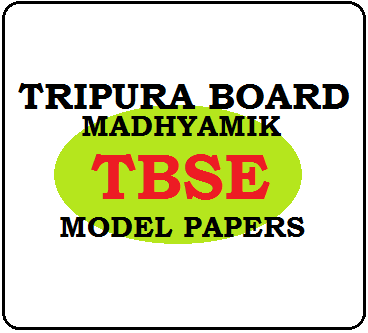 TBSE 10th Model Papers 2019