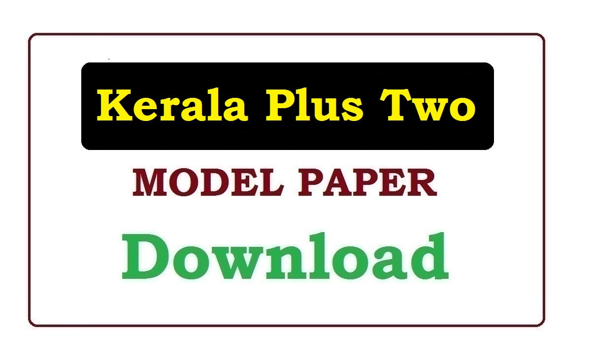 DHSE Kerala Plus Two Model Paper 2021