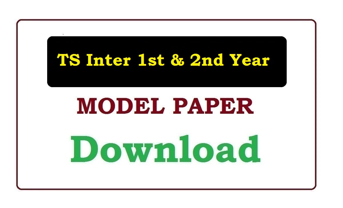TS Inter 1st & 2nd Year Model Paper 2020