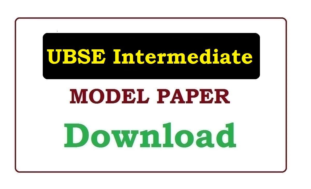 UBSE Intermediate Model Paper 2021